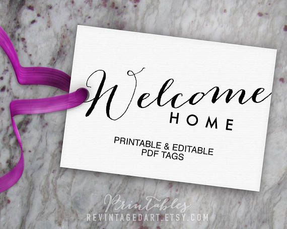 Welcome Home Tags Printable Gift Tag Template Editable Etsy Gift Tag Template Printable Gift Tag Template Gift Tags Printable
