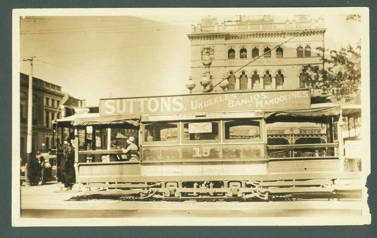 Tram 15 at the corner of Sturt and Lydiard Streets, 1920s? From the State Library collection