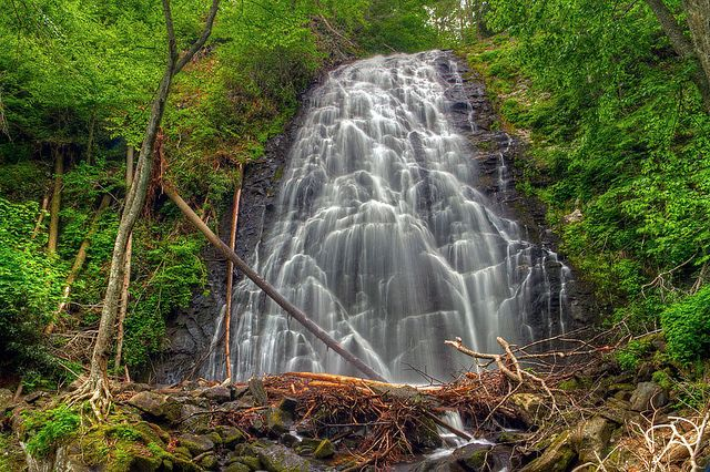 These 20 Breathtaking Waterfalls are Hiding in North Carolina.   Pictured:  #12. Crabtree Falls