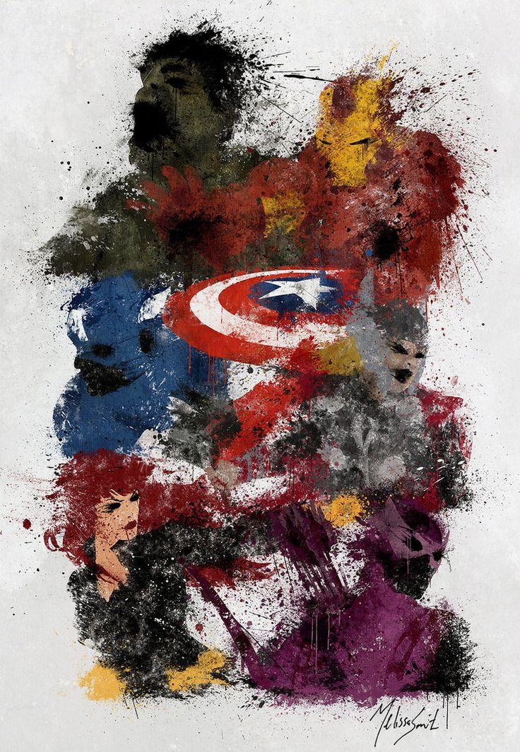 Ilustración de Los Vengadores difuminada