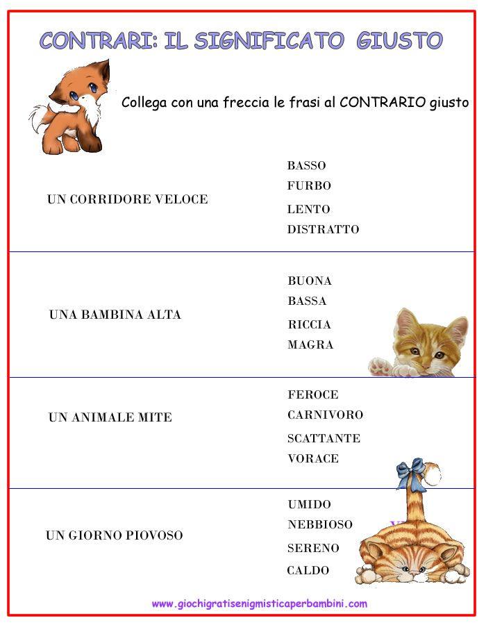 contrari_giusto_1 schede didattiche