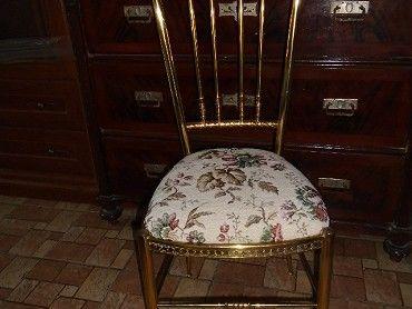 Prodám mosaznou židli, koukněte do mé celé