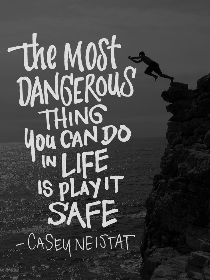 'The Most Dangerous Thing You Can Do In Life Is Play It Safe' | Daily Drawing 267. A quote from filmmaker Casey Neistat. Lettering by John Suder. #lettering