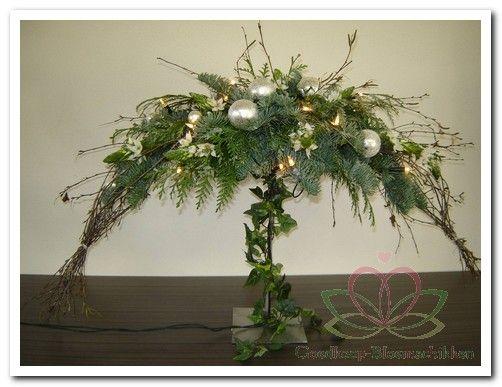 bloemschikken met groen en wit