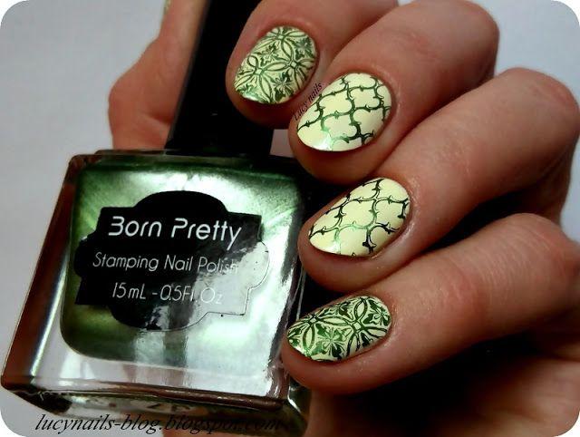 Born Pretty Stamping Nail Polish Green #37