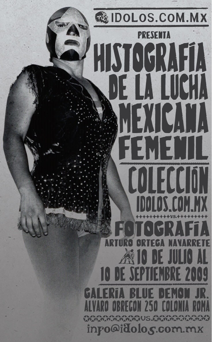 Typography / Lucha Libre Mexicana poster