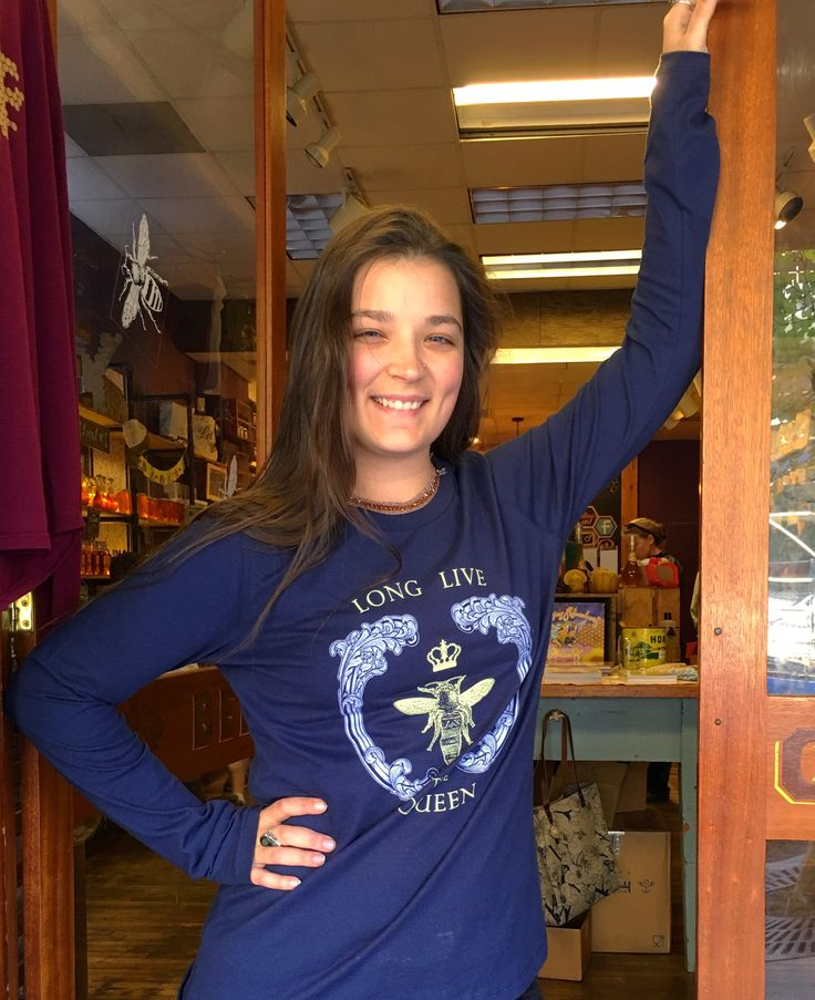 Our Long Live The Queen long sleeve for fall at the Asheville Bee Charmer