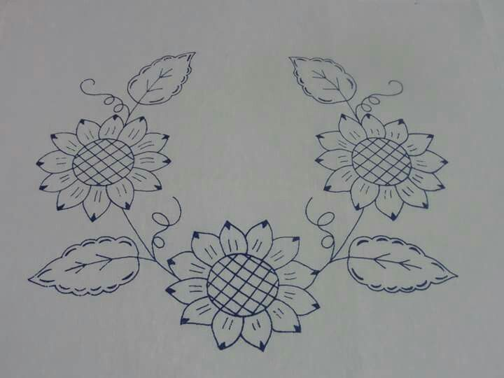 Embroidery Pattern from Girasoles. jwt