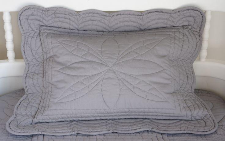 Bonne Mère Baby Cot quilt pillow. Colour Shell Pink