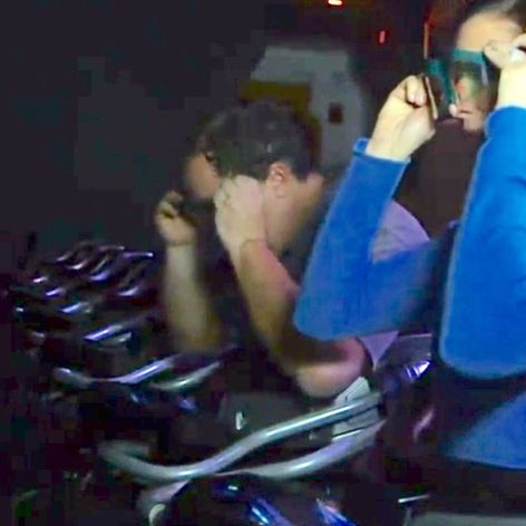 """""""Nightline"""" on ABC gave us a great look at the ride vehicles for the Avatar - Flight of Passage ride coming to Disney's Animal Kingdom. Lightened screenshots from Nightline. #avatar #disney #ride #vehicles #pandora #flightofpassage #animalkingdom"""