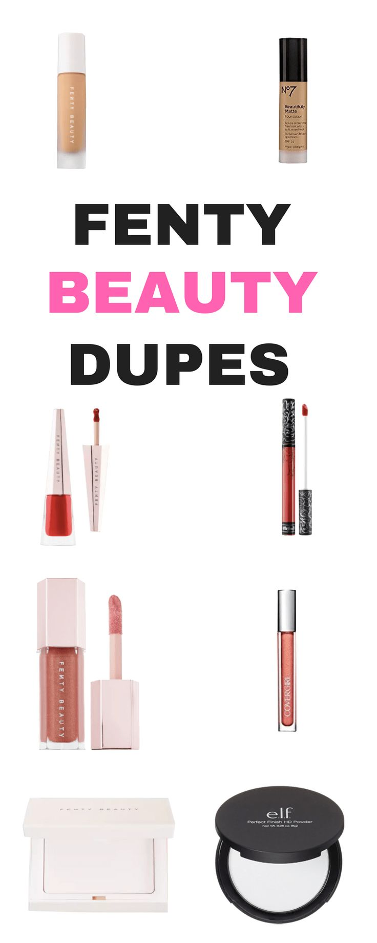 4 Fenty Beauty Dupes | MakeupVanityIdeas.com