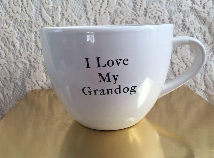 I Love My Grand Dog Large Coffee Mug Pets Funny Grandma Grandpa Spoiled Fur Baby #Hausenware