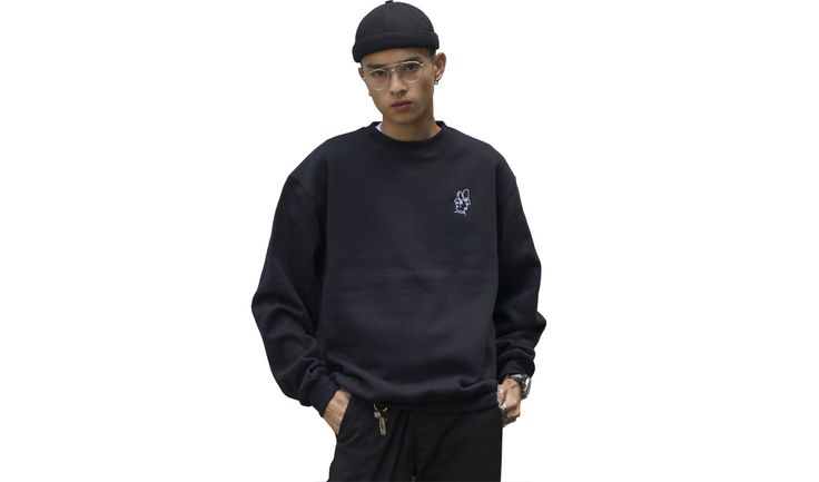 Where have you been? Embroided on high quality black crew neck jumpers with our logo on the front