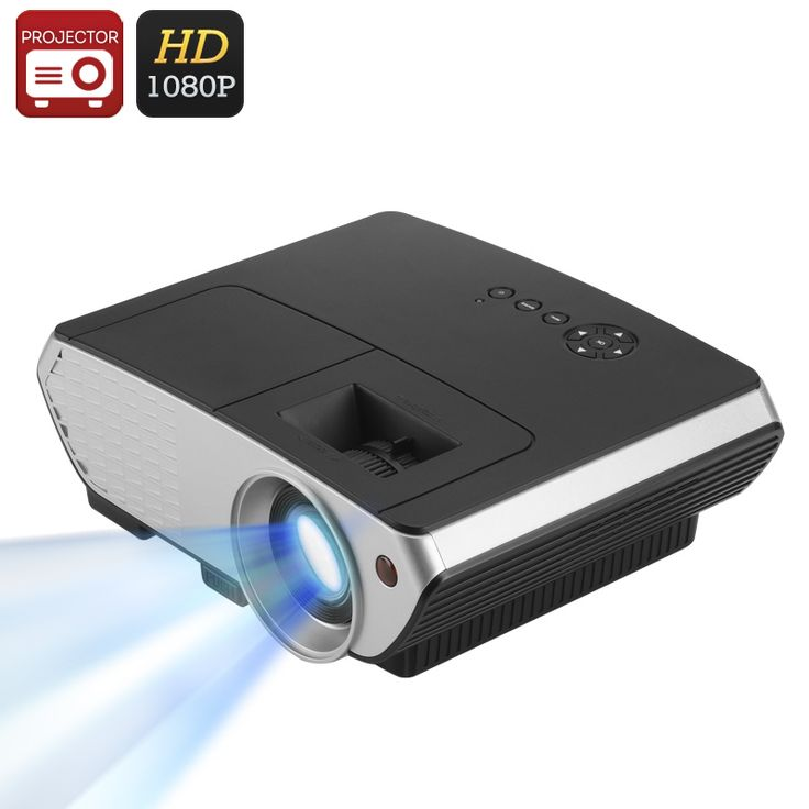 Image of 2000 Lumen LED Projector - 1500:1 Contrast Ratio, 50 to 140 Inch Projection, 1080P Support, Keystone Correction, HDMI, VGA, USB
