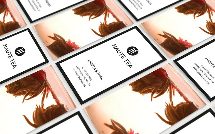 Haute Tea - Business Card Design