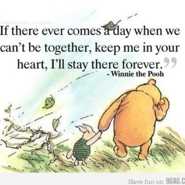 Winnie the Pooh - so very profound :)