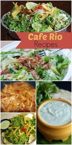 Cafe Rio Recipes - all knock offs of the DELICIOUS originals! { lilluna.com }