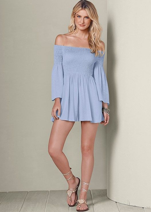 0cc5f2d596c Venus Women s Off The Shoulder Jumpsuits   Rompers - Blue