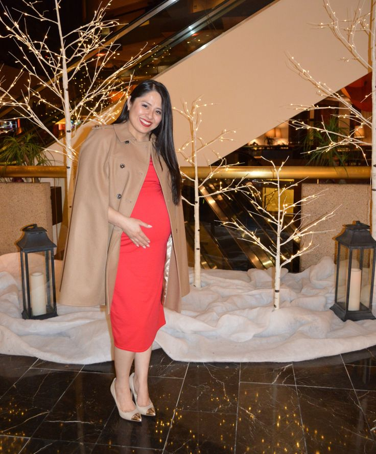 Red + Camel Maternity Outfit