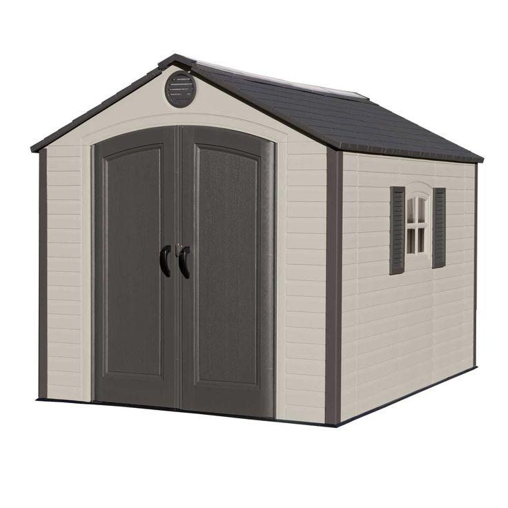 8 ft w x 10 ft d plastic storage shed - Garden Sheds Oldham