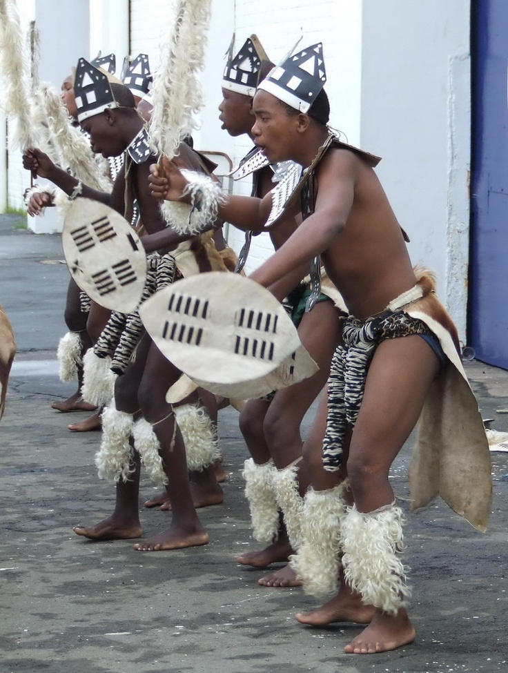 Zulu Dancers in traditional clothing - Durban South Africa