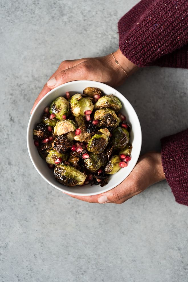 Balsamic Roasted Brussels Sprouts with Pomegranates | Life is but a Dish   – Side Dishes/ Appetizers