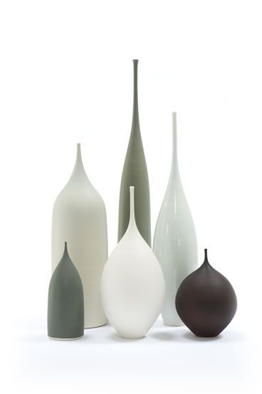 Porcelain bottle and pod by sophie cook_I love these so much I brought a group of them many years ago! still in pride of place on my sideboard.