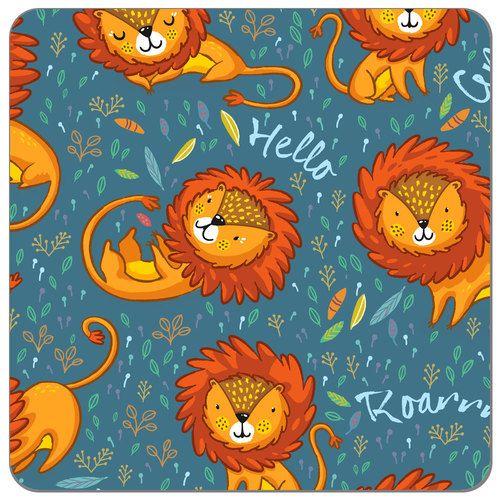 Little Lion | Cotton Spandex Knit Fabric | Diaper Sewing Supplies