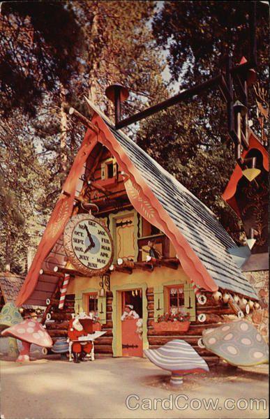 Santa's Village. Near Los Angeles: Skyforest, Calif. (near Lake Arrowhead). Near San Francisco: 6348 Los Gatos Highway, Santa Cruz, Calif. Near Chicago: Highway 25 & 72, Dundee Illinois. (The Dundee location continues as Santa's Village AZoosment Park.)