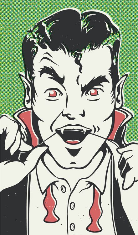 nathanjoyce:  Dracula getting ready for the Monster Mash