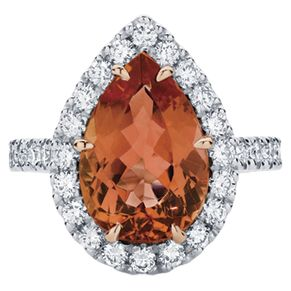 One of our stunning new designs the Rosetta (Pear) featuring a stunning orange Topaz surrounded with white diamonds.  www.larsenjewellery.com.au