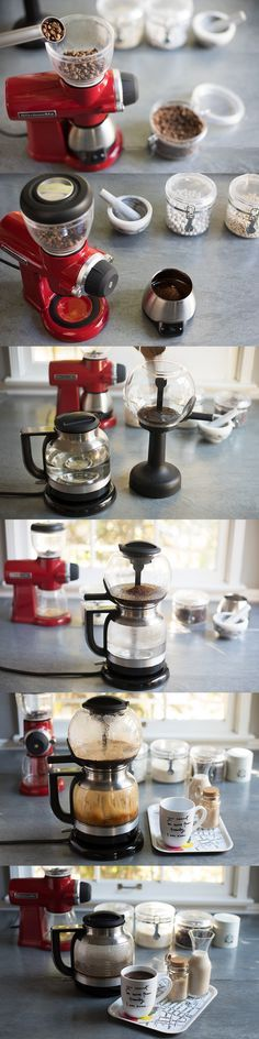 Precisely weigh and grind coffee beans to brew the perfect cup of coffee with the KitchenAid® Digital Scale Jar, Burr Grinder and Siphon Coffee Brewer. You can use these tools to create the 5 different global coffee styles shared by @aidamollenkamp  on our blog: http://kitchen.ai/PztrqR