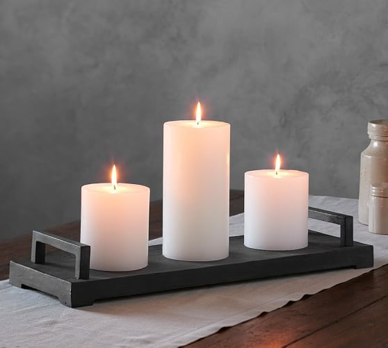 Bennett Candle Tray Candle Tray Wooden Pillar Candle