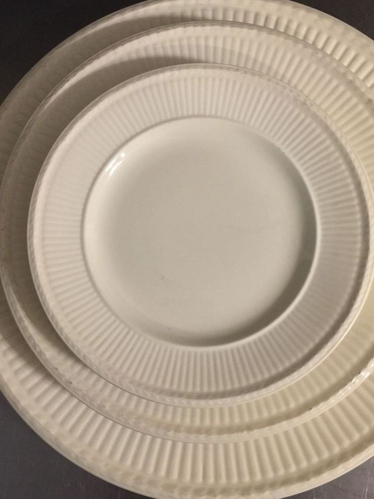 Wedgwood Edme Set 7 Fine China Cream Dinner Plate 3 Salad 3 Bread Butter England #Wedgwood