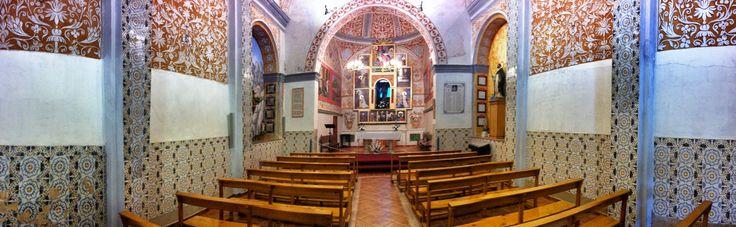 Panoràmica de l'interior de l'ermita de Santa Marina