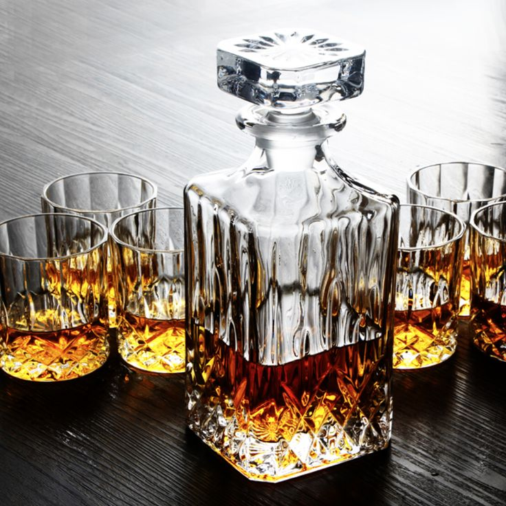 whiskey decanter glasses set crystal whisky australia canada ravenscroft engraved