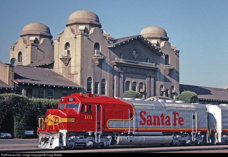 RailPictures.Net Photo: ATSF 101 Atchison, Topeka & Santa Fe (ATSF) EMD FP45 at San Bernardino, California by Craig Walker