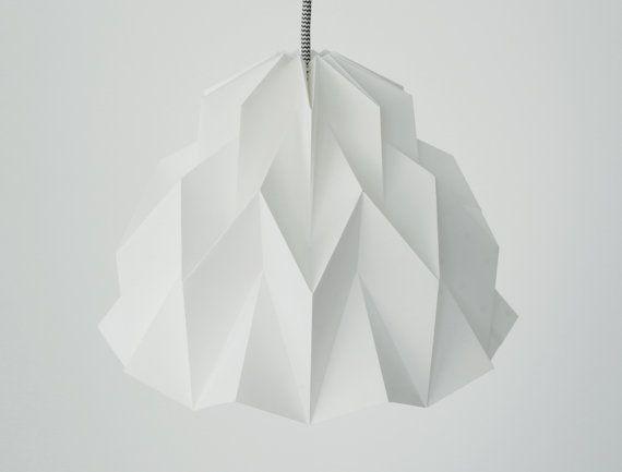 RUFFLE: Origami Paper Lamp Shade  White / FiberStore by FiberStore