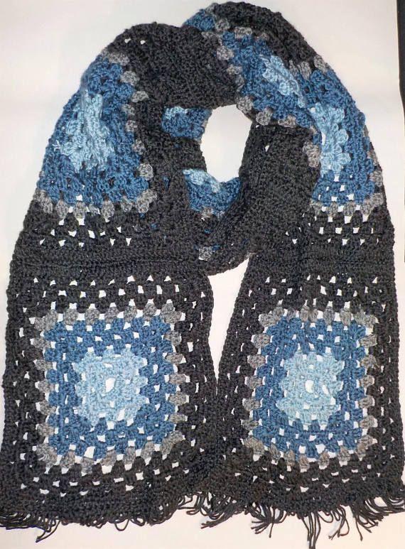 Granny square super scarf