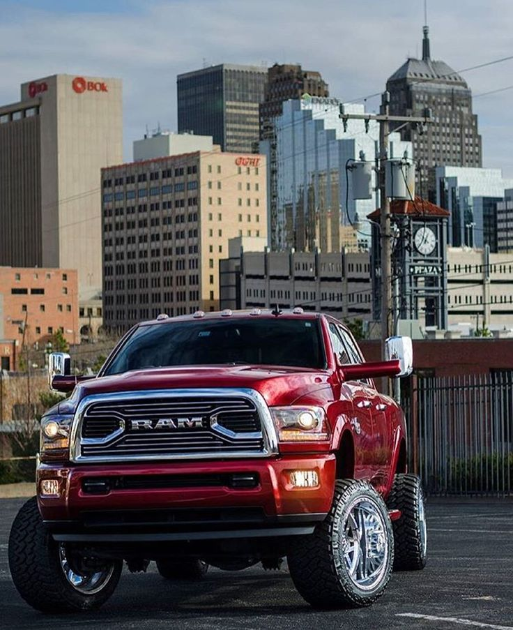 Dodge ram lifted 4x4 truck #winddeflector #windscreens http://www.windblox.com/