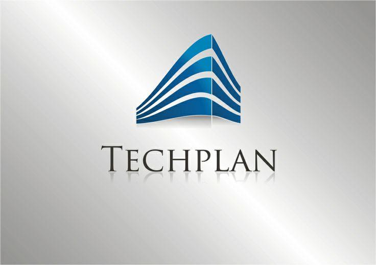 Techplan - projekt logo. www.ludio.pl