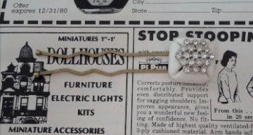 White Shiny Sparkly Rhinestone Vintage Recycled by thineintime, $9.00