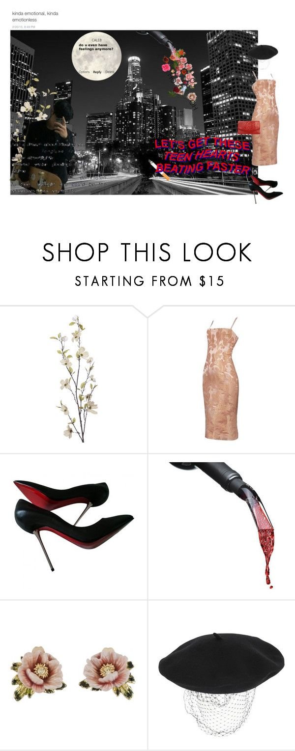 """it;s so sad that im dying because im so cute"" by jaloolia ❤ liked on Polyvore featuring Pier 1 Imports, Forum, Dolce&Gabbana, Christian Louboutin, Les Néréides, Silver Spoon Attire and Chanel"