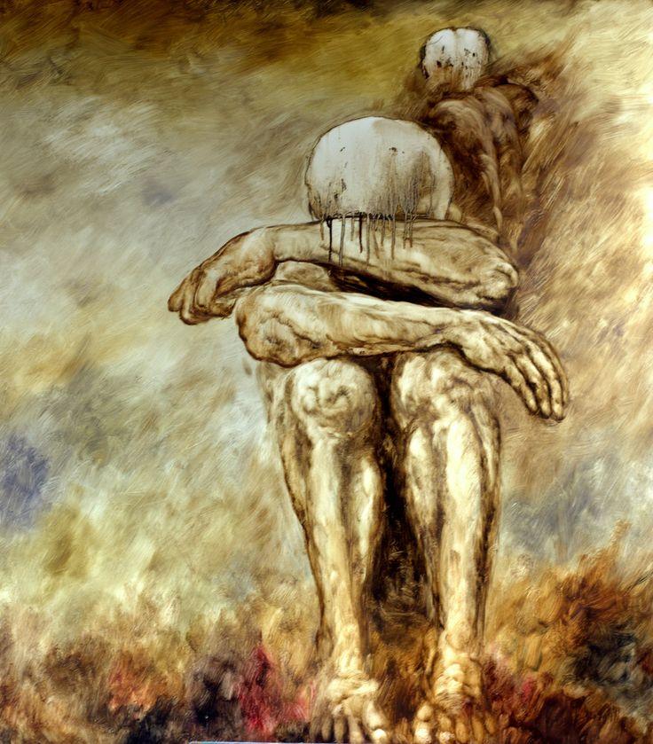 "Kacper Piskorowski ""Behind him"" 130 - 105 cm, 2014"