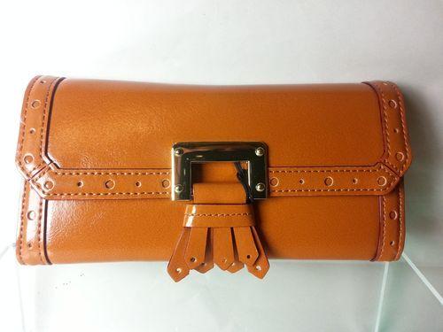 Antonio Melani Ladies Leather Wallet English Tan Brown New $60