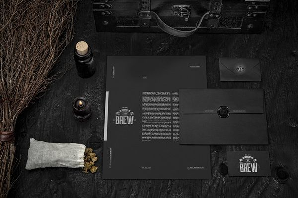 Project by Wedge & Lever for a fictional beer and wine brand called Bitches' Brew.