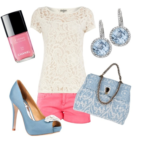 Baby blue and pink, Polyvore