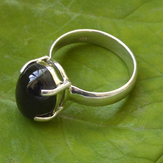 Black Onyx Ring, Natural Gemstone Ring,Sterling Silver Ring,Onyx stone Jewelry, December Birthstone Ring -Bezel Ring -Black Onyx Jewelry