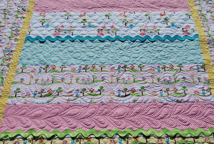 Machine Quilting l Lovely Threads l Adorable twin size princess quilt
