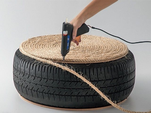 Almost each year after we change winter tires to those summer ones we struggle with recycling them. As it turns out, with the right materials and some creativity, you can transform them into a functional and stylish piece of furniture. What you need: tire (used or new one); 6mm MDF cut into two circles of 55 cm …
